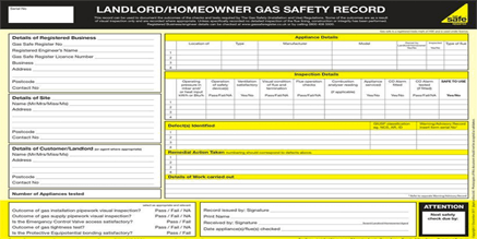 home buyer gas safety checks